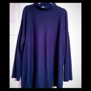 Loft XL Blue-Green lightweight turtleneck sweater